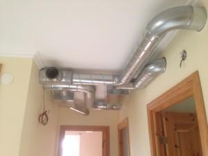 Kanaldragning i tak hall plan 1 trapp